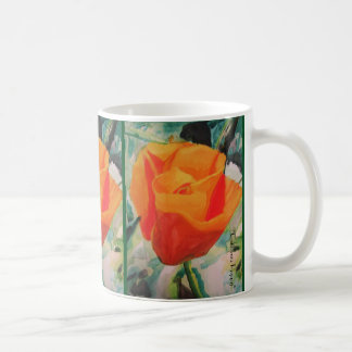 "Mug with ""California Poppy"" by Amber Larsen"