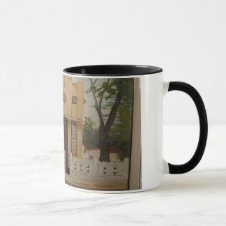 Mug with colorful handle