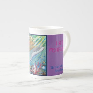 Mug with Dolphin/Mermaid Image: I AM Fearless