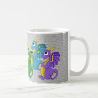 Mug with dragon cartoon coffee mug