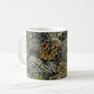 Mug with Fallen Pinecones around
