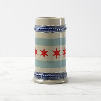 Mug with Flag of Chicago, Illinois State -USA