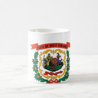 Mug with Flag of West Virginia State - USA