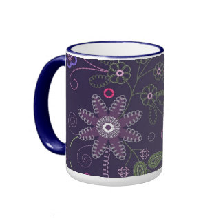 Mug  with floral ornament
