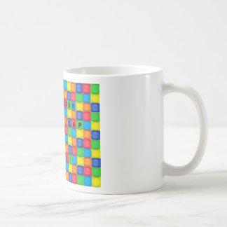 Mug with Fun Bottlecap Design