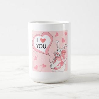 Mug with funny rabbit