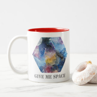 mug with galaxy and space details