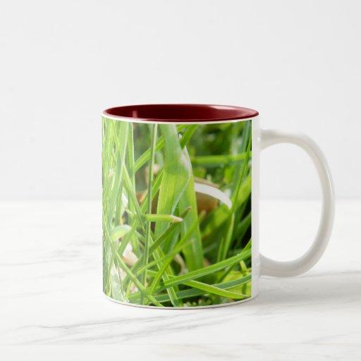 Mug with green grass