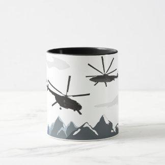 Mug with Helicopters