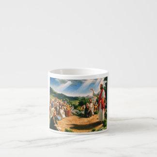 Mug with Jesus Christ nailing the gospel Espresso Mug