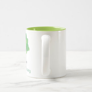 Mug with Lime Green Inside - Left