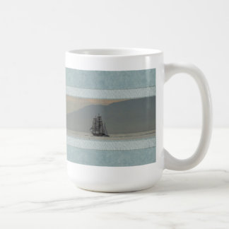 Mug with Ocean and Tall Ships