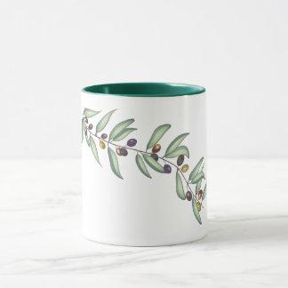 Mug with Olive Sprig