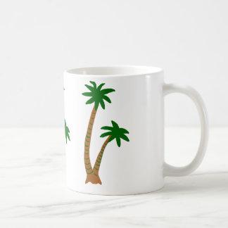 Mug with palm trees.