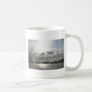 mug with photo of icy winter landscape