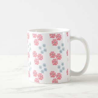 Mug with pink and blue flowers