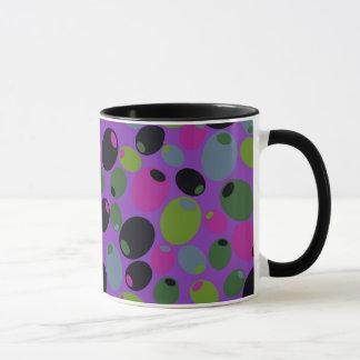 "Mug with ""purple"" olives design"