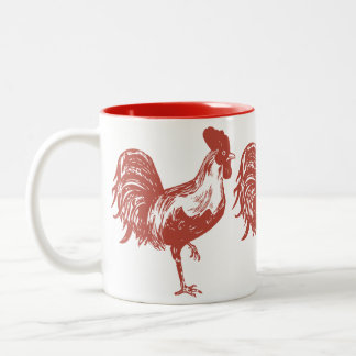 Mug with Red Rooster