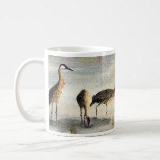 Mug with Sandhill Cranes around
