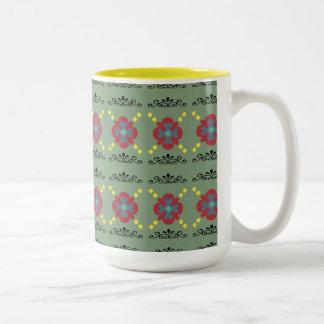 Mug with scrolling floral design