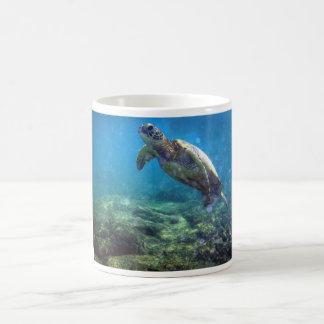 mug with sea turtle design