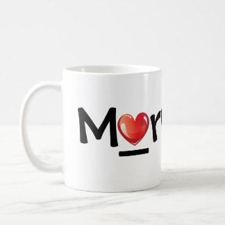 Mug with simple shiny heart design
