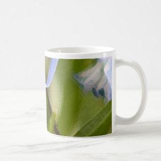 Mug with Soft Blue Spring Flowers