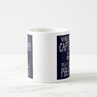 Mug - Work Like a Captain, Play Like a Pirate