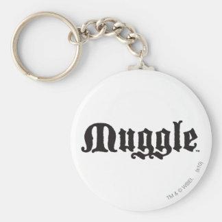 Muggle Basic Round Button Key Ring