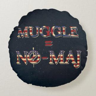 Muggle = No-Maj Round Cushion