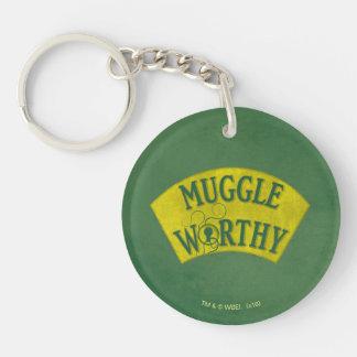 Muggle Worthy Double-Sided Round Acrylic Key Ring