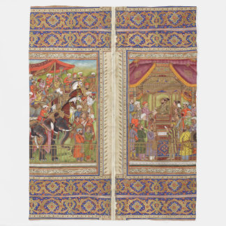 Mughal Indian India Islam Islamic Muslim Boho Art Fleece Blanket