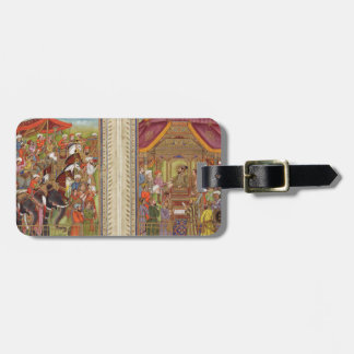 Mughal Indian India Islam Islamic Muslim Boho Art Luggage Tag