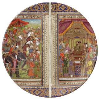 Mughal Indian India Islam Islamic Muslim Boho Art Plate