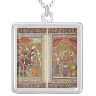 Mughal Indian India Islam Islamic Muslim Boho Art Silver Plated Necklace