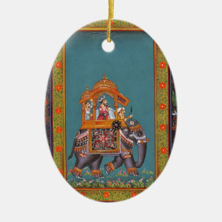 Mughal Indian India Islam Persian Persia Elephant Ceramic Ornament