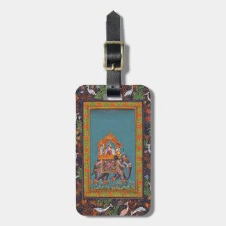 Mughal Indian India Islam Persian Persia Elephant Luggage Tag