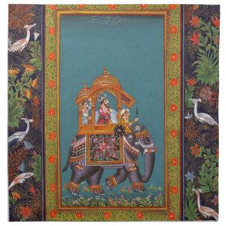 Mughal Indian India Islam Persian Persia Elephant Napkin