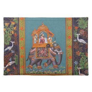 Mughal Indian India Islam Persian Persia Elephant Placemat