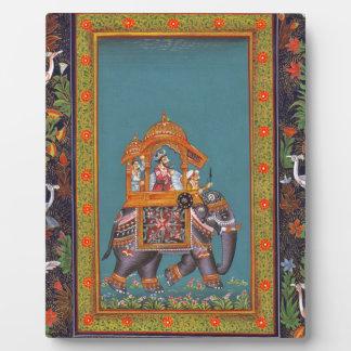 Mughal Indian India Islam Persian Persia Elephant Plaque