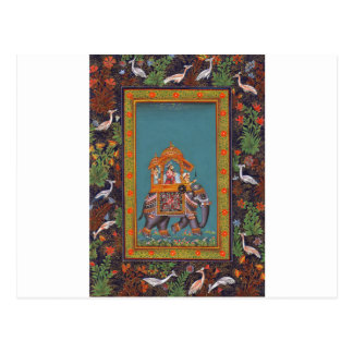 Mughal Indian India Islam Persian Persia Elephant Postcard