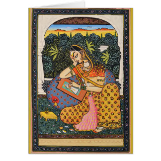 Mughal Princess Art Style Card