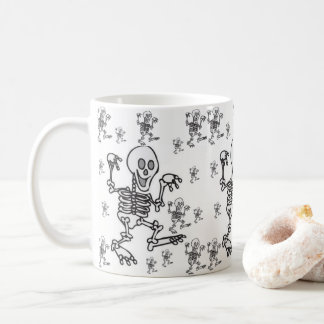 mugs halloween skeletons