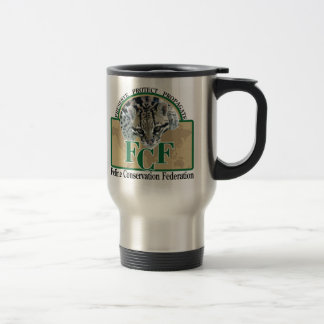 Mugs-logo on left travel mug