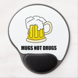 Mugs Not Drugs Gel Mouse Pad