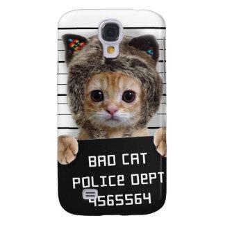 mugshot cat - crazy cat - kitty - feline galaxy s4 cover
