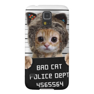 mugshot cat - crazy cat - kitty - feline galaxy s5 case