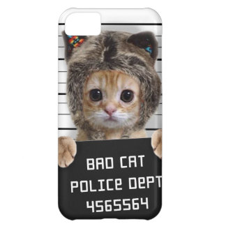 mugshot cat - crazy cat - kitty - feline iPhone 5C case
