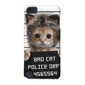 mugshot cat - crazy cat - kitty - feline iPod touch (5th generation) cover