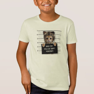 mugshot cat - crazy cat - kitty - feline T-Shirt